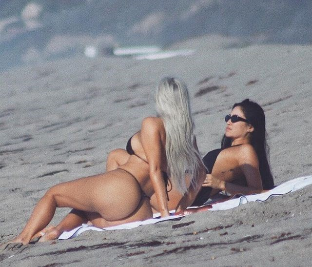 "Kim Kardashian West shared a booty pic at the beach in September last year, captioned 'Beach Bums'. We love a booty pun here! <br><br> *Image: [Instagram](https://www.instagram.com/p/BZb6Aevlkde/?taken-by=kimkardashian|target=""_blank"")*"