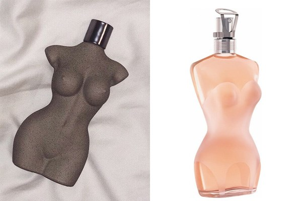 """**KKW BODY Fragrance** <br><br> When Kim released her KKW Body fragrance earlier this year, fans were quick to point out that the bottle — created from an exact cast of Kim's body — highly resembled the iconic perfume bottles of French designer Jean-Paul Gaultier.  <br><br> While [it's been reported](https://www.harpersbazaar.com/uk/beauty/fragrance/a20099288/jean-paul-gaultier-criticises-kim-kardashians-copycat-fragrance-bottle/