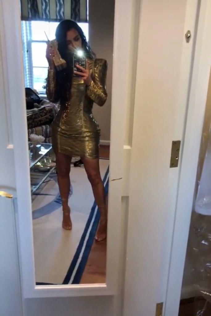 Over the weekend Kim Kardashian wore a sexy af gold Balmain mini dress to Pusha T and Virginia Joy Williams' Virginia Beach wedding, but is it inappropriate? Sure, there's the hotness factor (but, tbh, Kim can make literally anything look sexy and power to her). Question is, is it too 'blingy', and will it potentially outshine the bride?