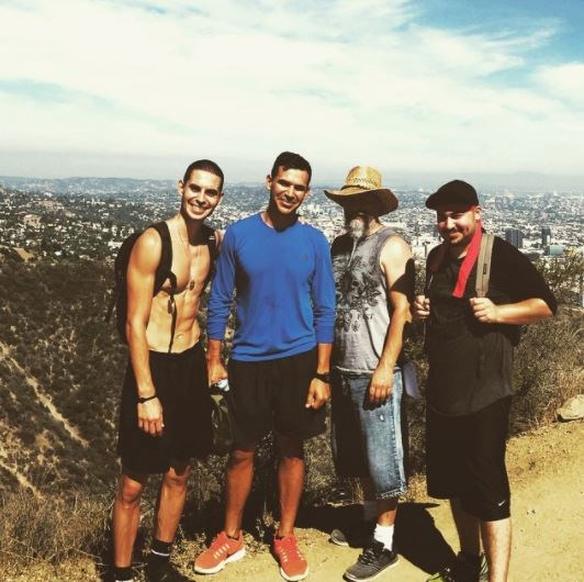 Somehow we don't think hiking gets you those abs.  (Photo: Instagram)