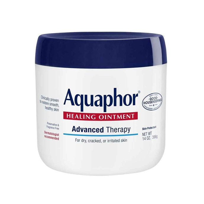 "Aquaphor Healing Ointment, $26 at [Amazon](https://www.amazon.com/gp/product/B006IB5T4W/ref=ox_sc_act_title_1?smid=A19RVR1T1PIZ7M&th=1|target=""_blank""