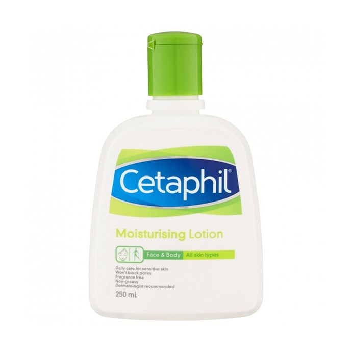 "Cetaphil Moisturising Lotion, $11 at [Priceline](https://www.priceline.com.au/cetaphil-moisturising-lotion-250-ml|target=""_blank""
