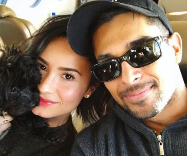 Demi Lovato's ex Wilmer Valderrama was spotted visiting her in hospital