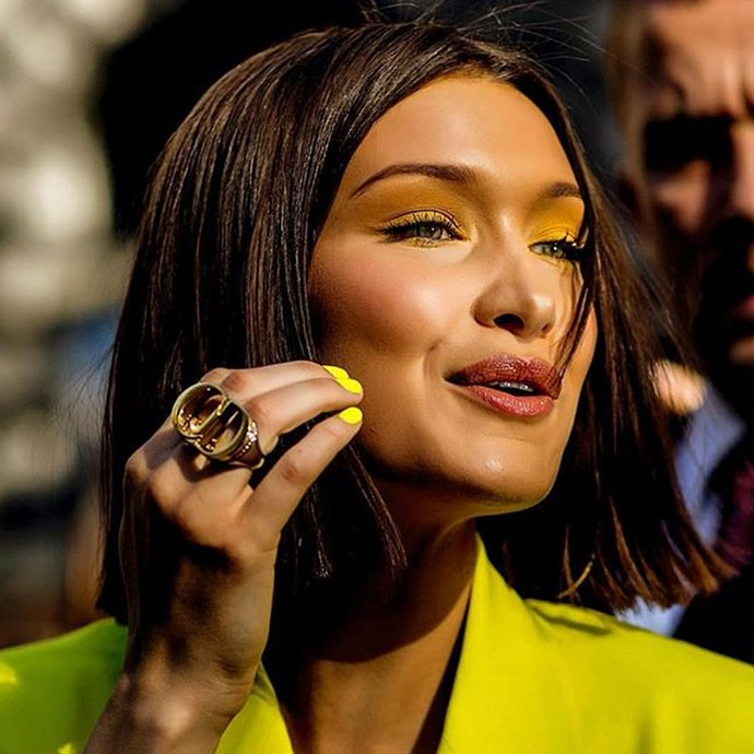 **Bella Hadid** <br><br> In June, the model took a hiatus from her long lengths, trading them in for a lightly textured bob. Unfortunately, her stint with short hair was short lived, with Bella hopping back on the long hair train with the help of extensions just days later.