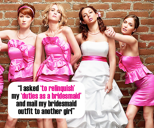 Bride Asks Bridesmaid To 'Relinquish Her Duties' In Very Awkward Email