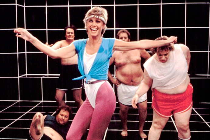 **1981: Spandex ** <br><br> Image: Olivia Newton-John in 'Physical' Music Video, 1981