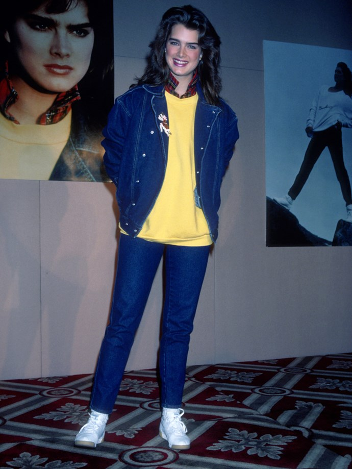 **1982: Double Denim** <br><br> Image: Brooke Shields