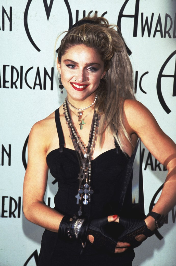 **1984: Fingerless Gloves** <br><br> Image: Madonna