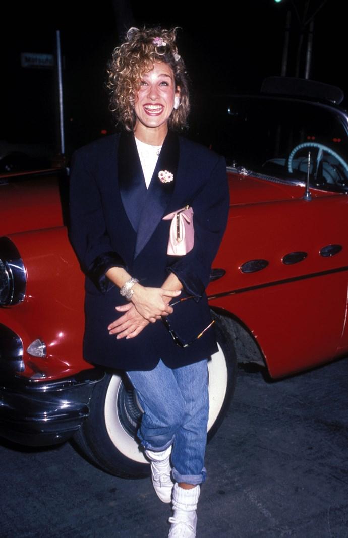 **1985: Shoulder Pads** <br><br> Image: Sarah Jessica Parker