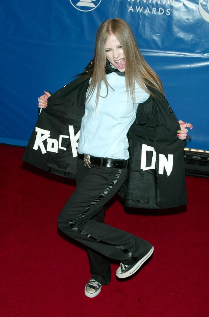 **2002: Converse** <br><br> Image: Avril Lavigne