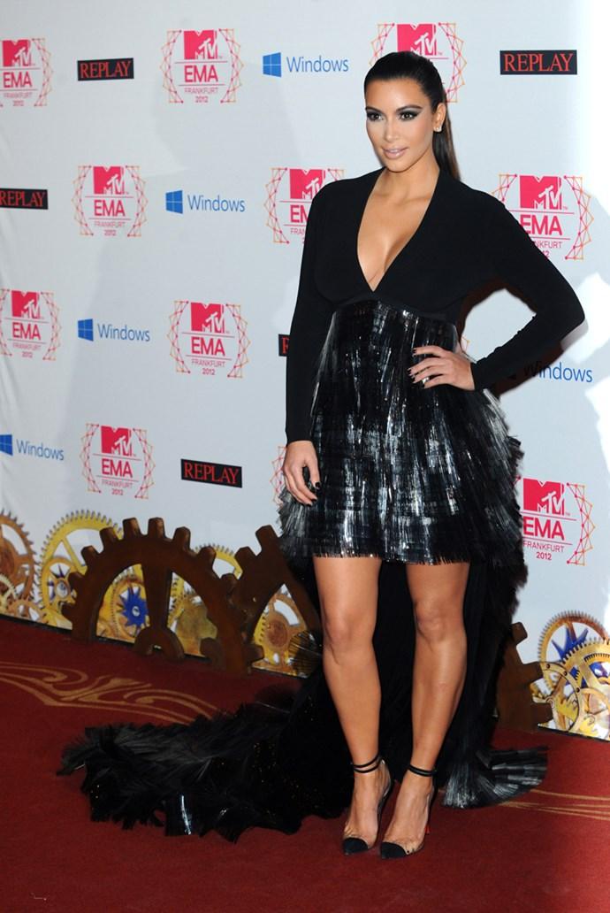 **2012: Mullet Hems** <br><br> Image: Kim Kardashian