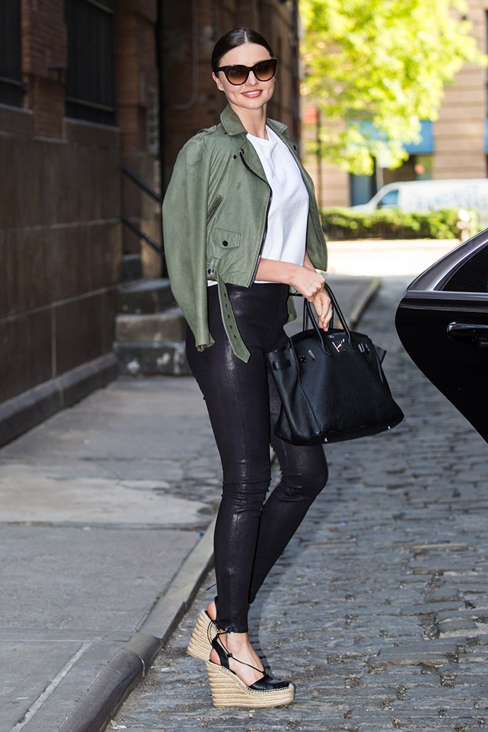 **2013: Leather Pants** <br><br> Image: Miranda Kerr