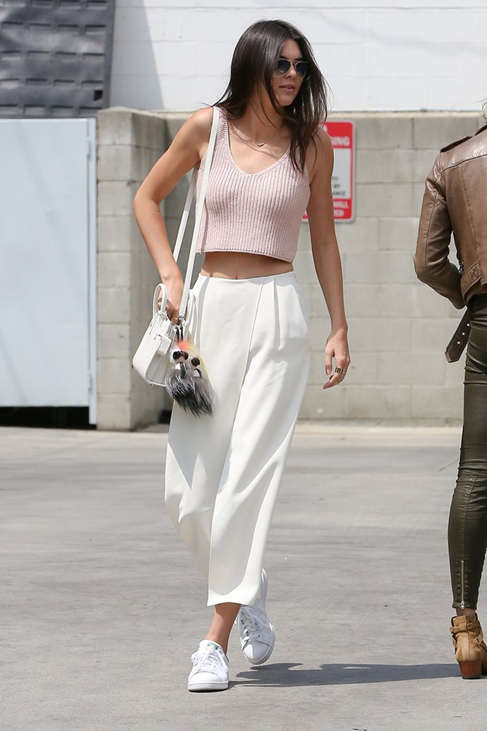 **2015: White Sneakers** <br><br> Image: Kendall Jenner