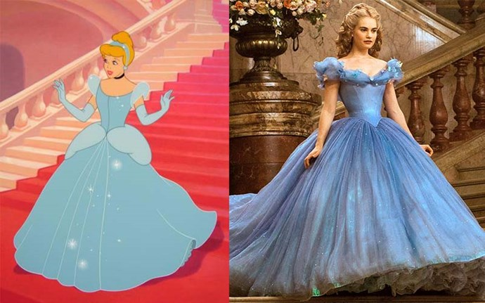 **Cinderella:** British actress Lily James was the chosen one to play chronic glass slipper loser, Cinderella, in a 2015 live-action adaptation. James' tiny waist in that famous blue dress drew almost as much attention as the film itself.