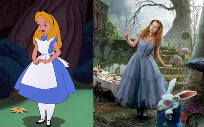 **Alice in Wonderland:** Tim Burton's 2010 take on the classic Lewis Carroll tale was a little more avant garde than the Disney version and starred Aussie actress Mia Wasikowska as Alice.