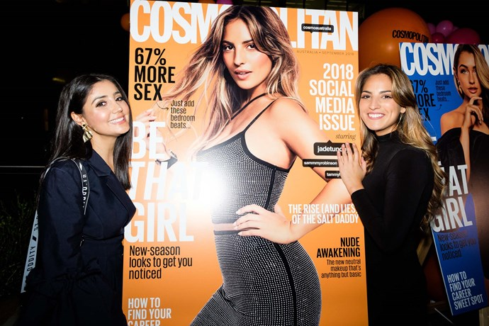*Cosmo*'s Leisa with cover star Jade