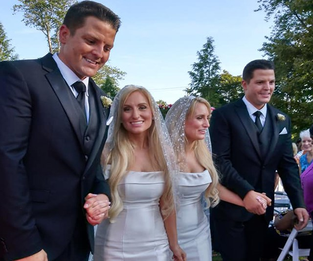 These identical twin sisters married identical twin brothers with twin ministers and we're mindf*cked