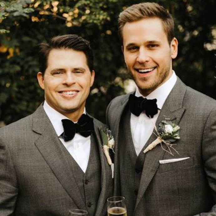 """**Dan Ambroyer (Thad and Chad Weber) and husband Eric Berger**  Dan, who plays twin brothers on the show, decided to publicly come out as homosexual when he got engaged to his boyfriend of 10 years, financial planner Eric. The two wed in a sharp-suited ceremony in October 2017.""""I want to live my life moving forward with integrity and pride,"""" Dan told *[People](https://people.com/tv/dan-amboyer-gay-wedding-husband-eric-berger-exclusive-interview/