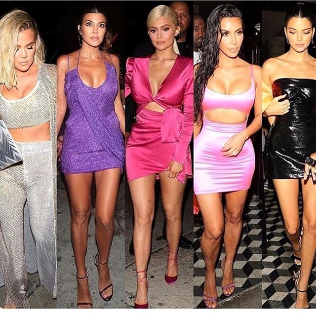 Kylie shared this splice to her Instagram, so she could give a proper shout-out to her sisters and their insane party outfits.