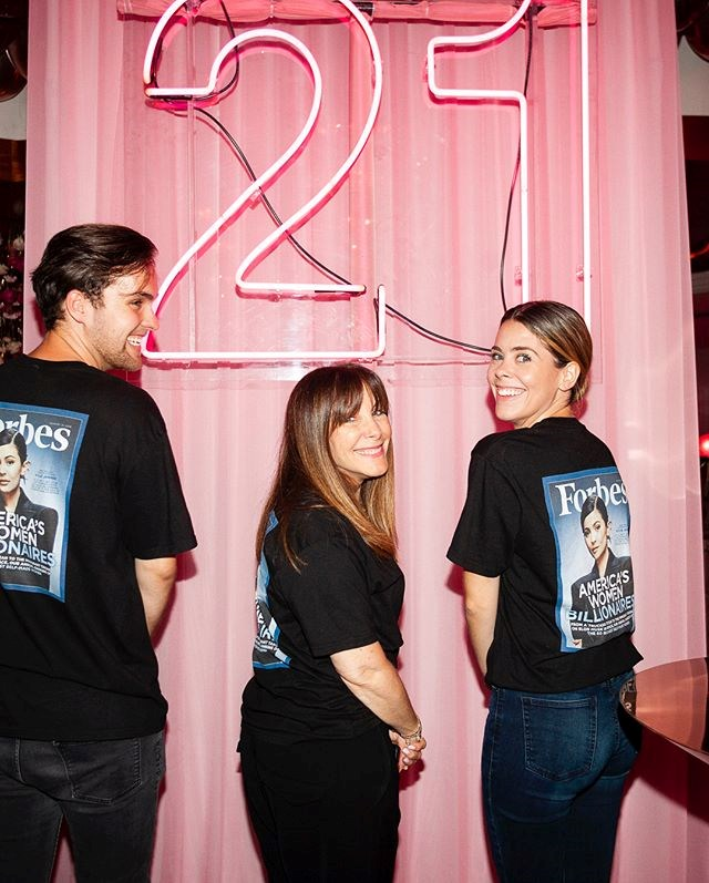 The servers at Kylie's 21st wore t-shirts emblazoned with the star's *Forbes* cover, of course.