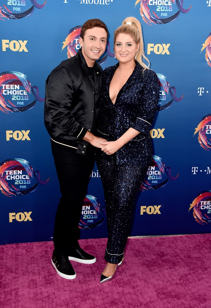 Meghan Trainor and her partner Daryl Sabara