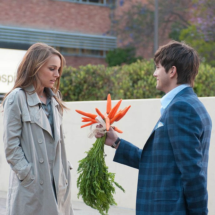 ***No Strings Attached*** <Br> Two friends played by Natalie Portman and Ashton Kutcher decide to test the very dubious theory that two buddies can have sex without developing feelings for each other. Yeah, right. Best of luck with that.