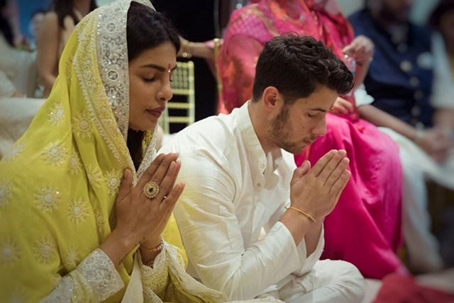 "The couple put religion at the forefront of their celebrations, with Priyanka explaining on Instagram, ""The only way to do this... with Family and God. Thank you all for your wishes and blessings""."