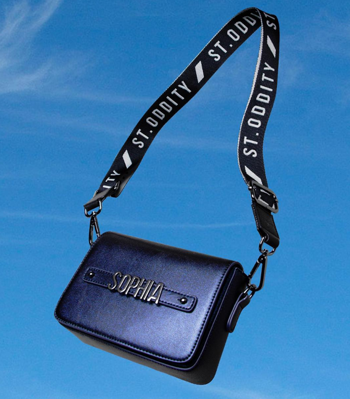 "Galaxy Crossbody Bag with Personalised Hardware, $149, from [St.Oddity](https://stoddity.com/collections/crossbody-bags/products/galaxy-crossbody-bag-with-personalised-hardware|target=""_blank"")."