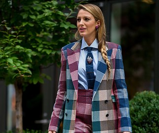 Blake Lively is bringing back the three-piece suit and we're obsessed