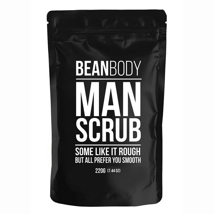 """**Bean Body Man Scrub, $19.95 from [Bean Body Care](https://ausnz.beanbodycare.com/collections/all-products/products/mr-bean-man-scrub