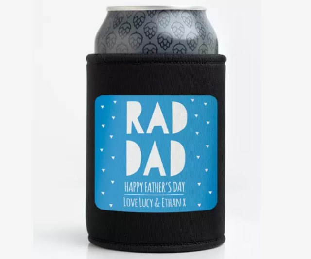 """**Personalised Rad Dad Stubby Holder, $27.45 from [Bright Star Kids](https://www.hardtofind.com.au/172677_personalised-rad-dad-stubby-holder-various-colours