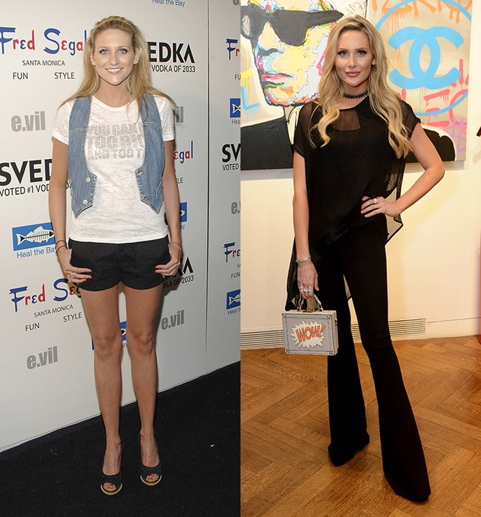 **Stephanie Pratt Before and After** <br><br> Stephanie Pratt (AKA Spencer's little sister) had a bit of a hectic time on *The Hills*, being caught in the middle of Spencer and LC's feud and battling her own addiction issues. Since filming wrapped Stephanie has moved to the UK to star in *Made in Chelsea* as well as a slew of other reality TV shows.