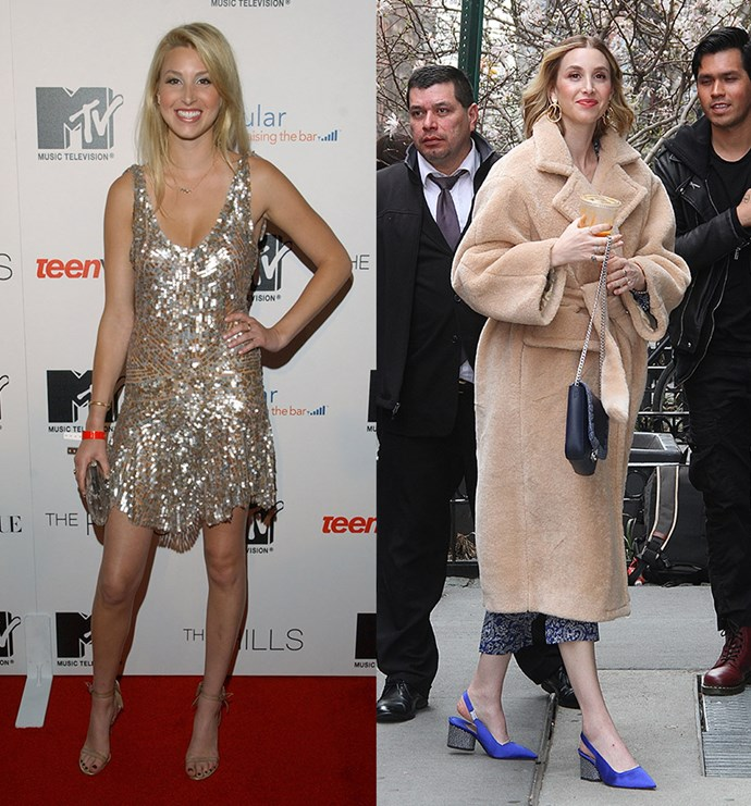 **Whitney Port Before and After** <br><br> Whitney was our one and only #interninspo when we wanted to carve out a career in fashion. But update: Whitney MADE IT! She's launched her own fashion label, Whitney Eve, and was on the judging panel for *Britain and Ireland's Next Top Model*. Whitney is also now a mum to her baby boy, Sonny Sanford.