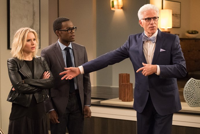 ***The Good Place* season three (September 28):** Kristen Bell returns as self-absorbed Eleanor Shellstrop, who dies and arrives in a heaven-like locale known as the Good Place due to a processing error. Desperate to stay, she decides to try and become a better person.