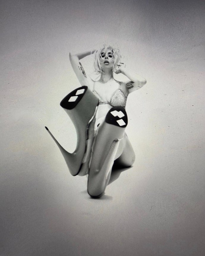 Following Gaga's *Enigma* Vegas residency announcement the new pics have fans speculating a new single.
