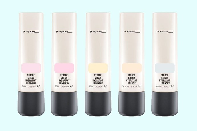 "**1. Customise your base** <br> <br> ""One way to get a more natural base, is to mix a little moisturiser into your foundation."" It'll dial down the coverage and give skin a dewier, natural finish. For a glowier finish, Dominic recommends ""adding a smidge of [MAC's Strobe Cream](https://www.maccosmetics.com.au/product/13824/364/products/skincare/moisturisers/strobe-cream