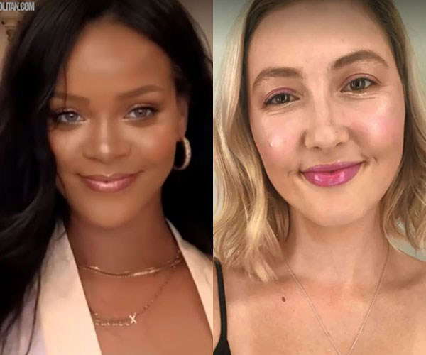 This average girl tried Rihanna's 'going out' makeup and the finished look is, well, lit