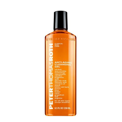 "**Peter Thomas Roth Anti-Aging Cleansing Gel, $55 at [Sephora](https://www.sephora.com.au/products/peter-thomas-roth-anti-aging-cleansing-gel-250ml/v/default|target=""_blank"")** <br><br> ""I'll use it with the Peter Thomas Roth Anti-Aging Cleansing Gel if my skin feels grimy or the Marula Foaming Cleansing Oil if I need something on the gentle side."""