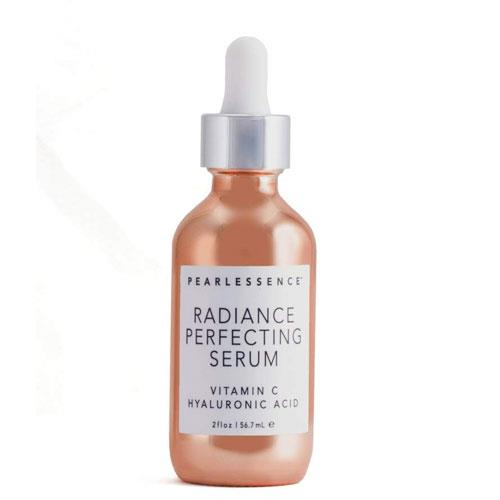 "**Pearlessence Radiance Perfecting Serum, $23 at [Amazon](https://www.amazon.com/Pearlessence-Radiance-Perfect-Vitamin-Hyaluronic/dp/B07CMBS8QY?th=1|target=""_blank"")** <br><br> ""When I get out of the shower, I do my serums — I'll put them on with this vibrating wand. I love this Pearlessence Radiance Perfecting Serum during the day."""