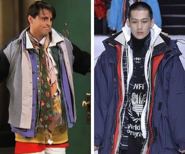 Balenciaga is selling a $10,405 coat that looks like loads of coats, inspired by Joey Tribbiani