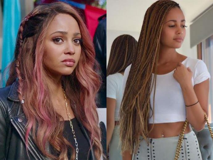 **Vanessa Morgan AKA Toni Topaz:** Beachy Toni with braids is such a look, can someone please notify the Riverdale costume department immediately?