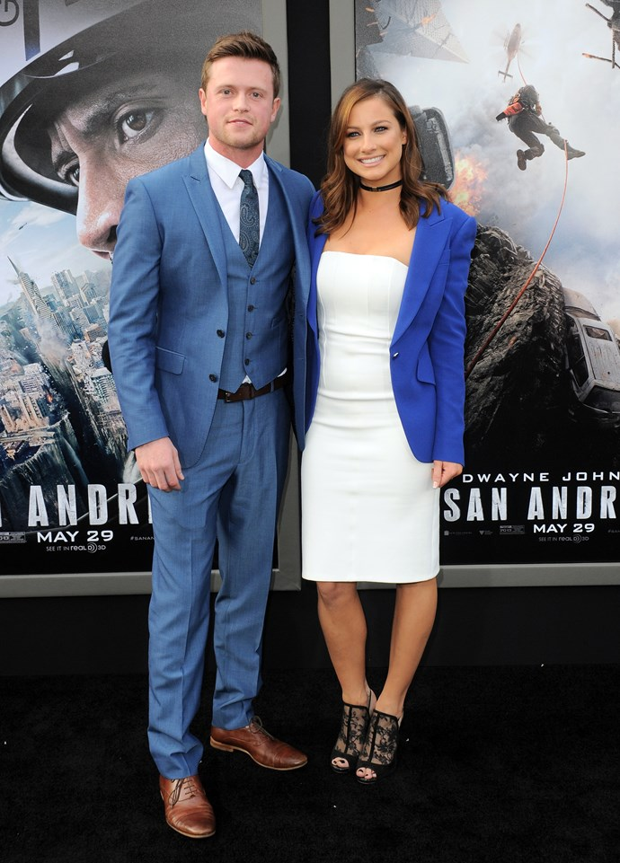 Romy Poulier dated actor Hugo Johnstone-Burt back in 2015, even attending a Hollywood premiere with him for his movie *San Andreas*.