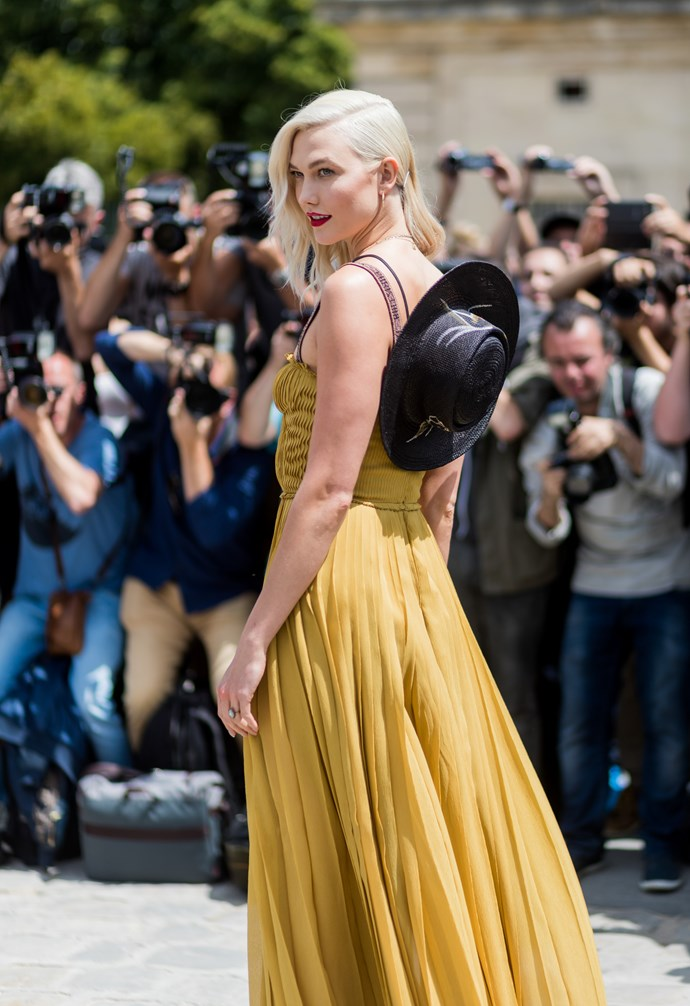 Supermodel Karlie Kloss sporting the Dior take on the trend.