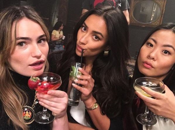 They're clearly fans of a cocktail too — here are Kathryn, Shay and Nicole selfie-ing it up during a drinking sesh.