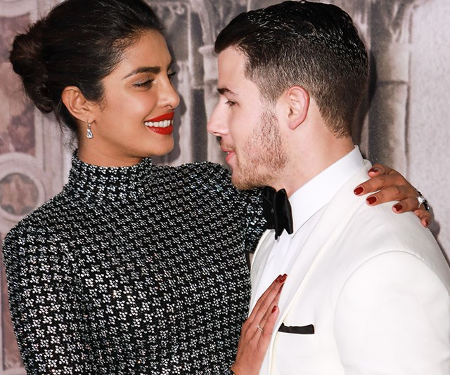 Priyanka Chopra and Nick Jonas just recreated Prince Harry and Meghan Markle's engagement portrait