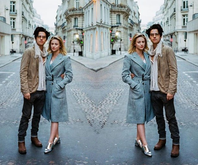 Cole Sprouse just shared an intimate pic of him and Lili Reinhart nearly kissing and the internet has melted