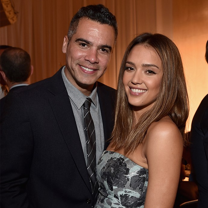 **Cash Warren and Jessica Alba:** Honestly, these two could almost be twins. The couple that twins together, stays together, right?