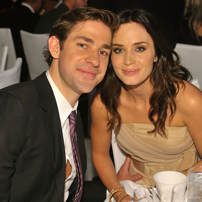 **John Krasinski and Emily Blunt:** One of our fave couples in Hollywood, John and Emily have the same friendly faces, bright eyes and a cheeky close-mouthed smile that makes them look like they're sharing a private joke.