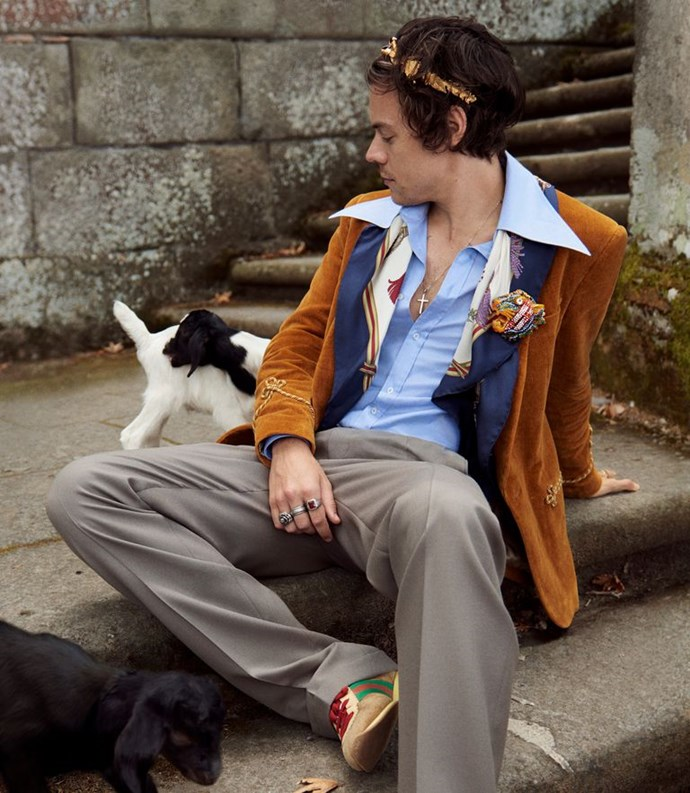 Harry Styles ft. Lost goat. (Courtesy of Gucci)
