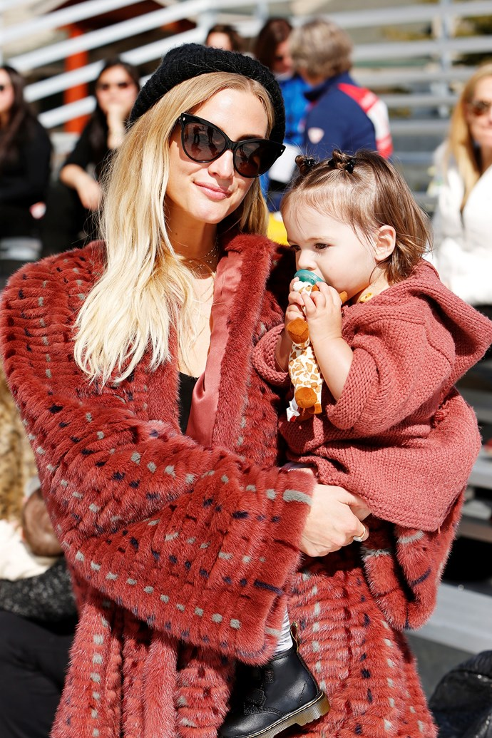 Being a seriously cool mum with daughter Jagger in 2017.